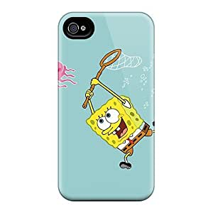 New Snap-on Phone Case Skin Case Cover Compatible With Iphone 4/4s- Spongebob