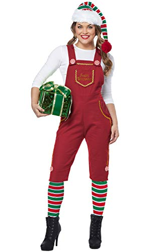 California Costumes Women's Santa's Workshop Elf-Adult Costume, Red
