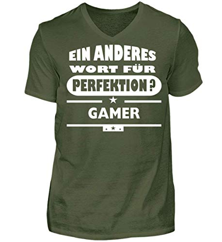V Wort für Gamer perfektion Green Shirtee City Neck Herren xAPfqwBH