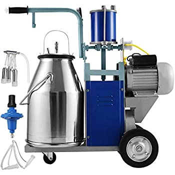 Goat Cow Aramox Milker Electric Milking Machine Stainless Steel 2L for Sheep