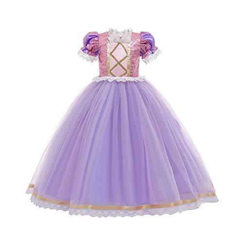 LOKKSI Rapunzel verstrikte jurk voor meisjes, voor kinderen, carnaval, prinsessenkostuum, babymeisje, prinsessenjurk…