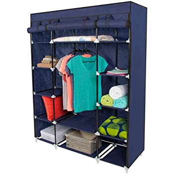 Amazon Com Best Choice Products 53 Portable Closet Storage