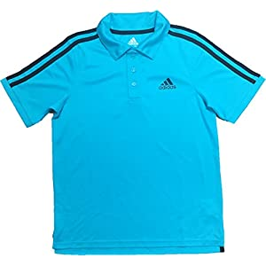 adidas Boy's Short Sleeve Athletic Polo Shirt Turqouise