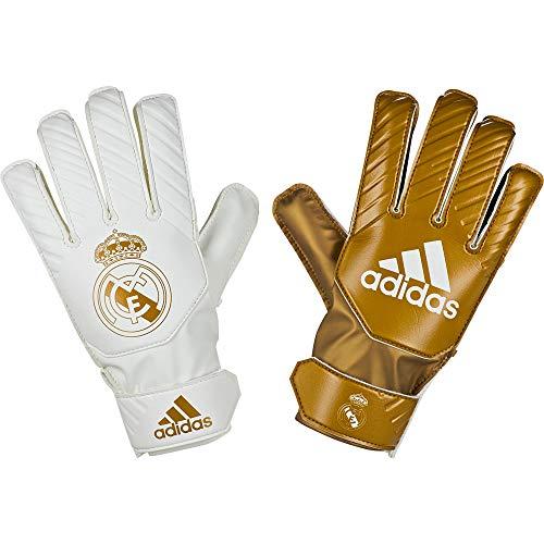 adidas Real Madrid 2019-2020 Niño, Guante de Portero, Gold Metallic-White