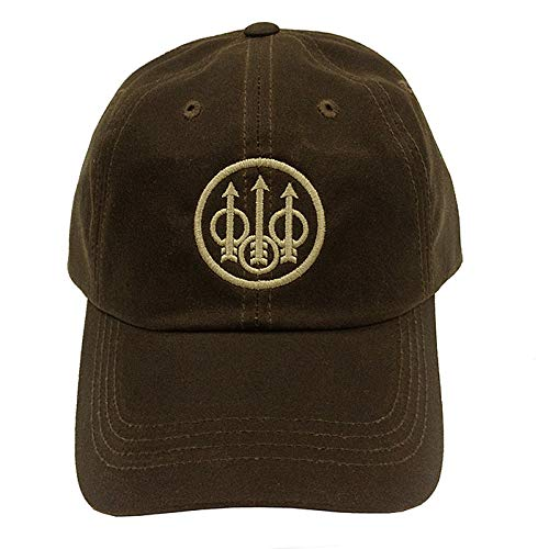 Beretta Mens Waxed Cotton Hat; Brown; One Size