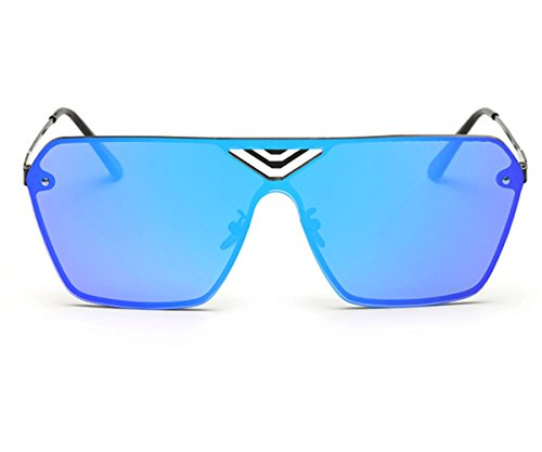 Heartisan Fashion Square Full Color Filter Oversized UV400 Unisex Sunglasses - Quiz Sunglasses