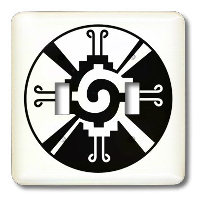 3dRose LLC lsp_101008_2 Hunab Ku Indian Mexican Symbol Double Toggle Switch by 3dRose