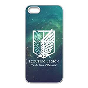 Attack On Titan iPhone 5 5s Cell Phone Case White xlb-187648