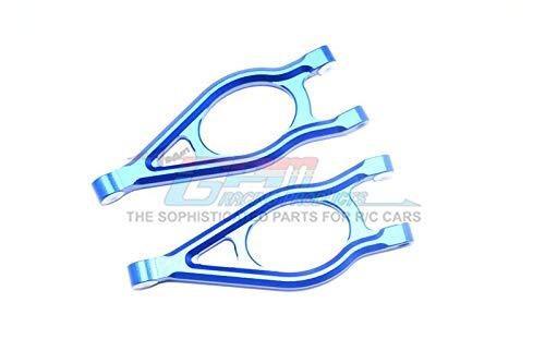 GPM Arrma 1/10 Fazon Voltage 2WD (AR102675AU) Upgrade Parts Aluminum Front Upper Suspension Arm - 1 Pair Set Blue