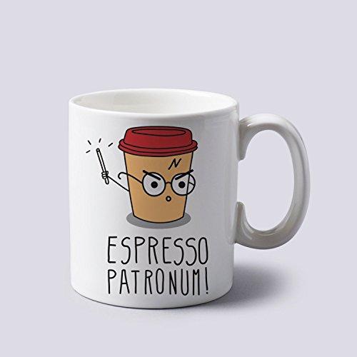 Espresso Patronum Harry Potter Funny Cartoon Mug Cup Two Sides 11 Oz - Harry Novelty Potter