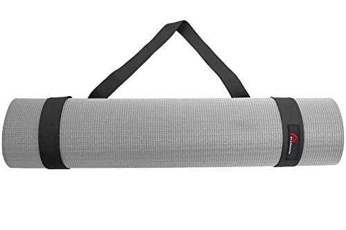 - ProSource Yoga Mat Carrying Sling, Easy Adjustable Carry Strap 152cm Long Cotton (Black)