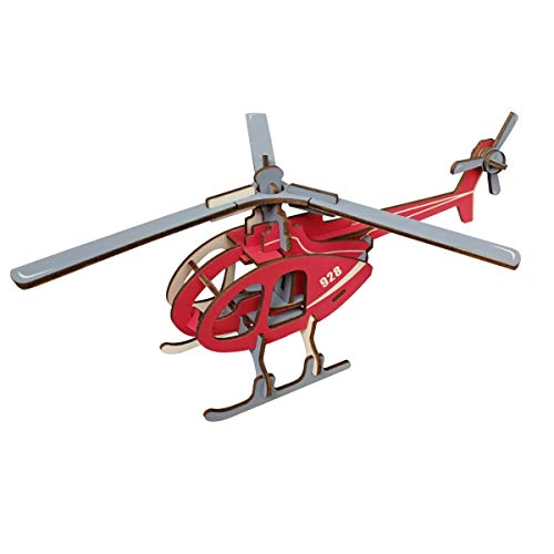Toy for Kids 8-12 Year Old | Boys DIY Art Wooden Craft Kits Helicopter | Travel Brain Teasers for Kids | Christmas Kids Gifts