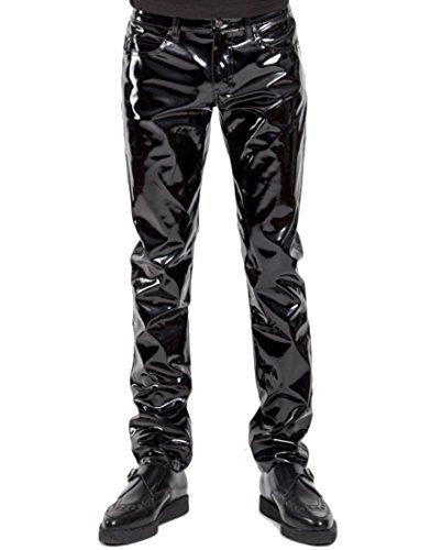 Pants Vinyl (Tripp NYC Mens PVC Shiny Black Vinyl Pant (34, Shiny Black))