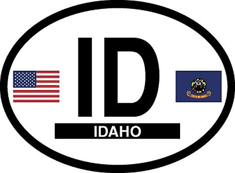 - Idaho oval decal for auto, truck or boat