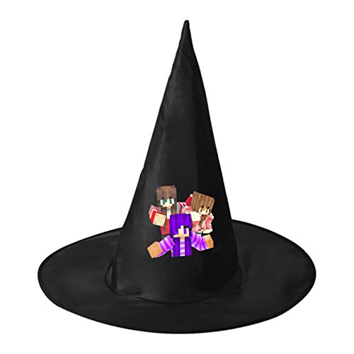 RRUH Halloween Black Witch Hat-Princess Girls (Christmas Vacation Themed Costumes)