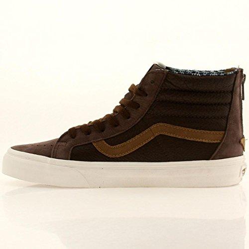 Vans Mens Sk8 Hi Zip CA Hight Top Lace Up Fashion Sneakers Coffee Bean vDqnw9st5r