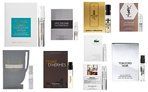 Men's Designer Fragrance Samples (9 carded - Replica Ford Tom
