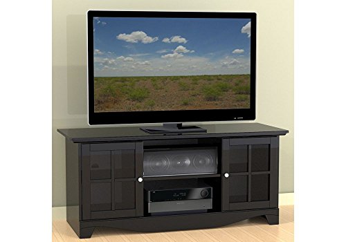 Pinnacle Tv Console With Glass Doors Dimensions: 55.75