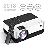 1080 Projector Screen - Mini Projector, Shineking 2800 Lumens LED Portable Projector 150 Inch Support 1080P HD, Video Projector for Home Theater Games and Outdoor (Compatible for PS4/Laptop/XBOX/SD/AV/USB)