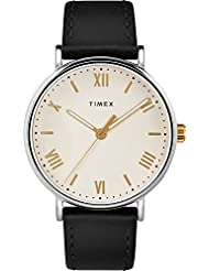 Timex Mens TW2R82400 Southview 41 Black/Cream Leather Strap Watch