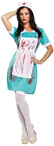 LADIES ZOMBIE NURSE BLOODY HALLOWEEN FANCY DRESS COSTUME OUTFIT THE WALKING DEAD SCRUBS CHEAP 00337 by ()
