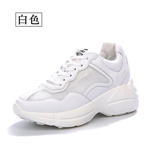 Moda para Malla QQWWEERRTT Inferior Zapatos Salvajes Ocasional Zapatos de Deportivos Mujer Zapatos Nuevo blanco para Gruesa Verano Suave Hermana qq6RvEw