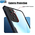 Amozo Back Cover for Redmi Mi Note 10 / Redmi Note 10s (Poly Carbonate|Soft|Transparent)