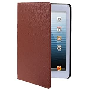 Litchi Texture Leather Case with Holder for iPad mini / mini 2 Retina (Coffee)
