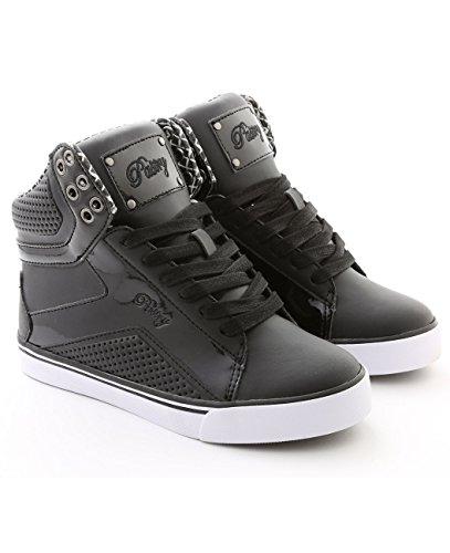 pastry-pop-tart-grid-dance-shoe-youth-3-black-white