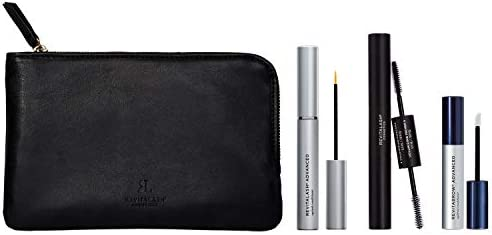 RevitaLash Cosmetics, Best Seller Collection / RevitaLash Advanced 3.5mL, RevitaBrow Advanced 1.5mL, Mini Double-Ended Volume Set & Signature Cosmetic Bag, Hypoallergenic & Cruelty Free