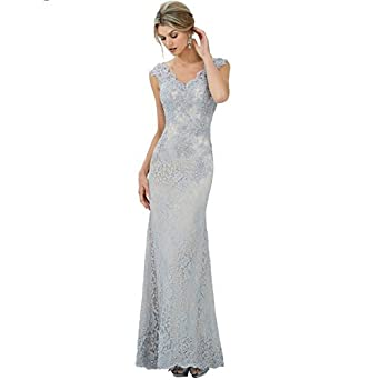 Setwell Womens sleeveless Floor-Length Sexy Lace Mermaid Prom Dresses Evening Dress
