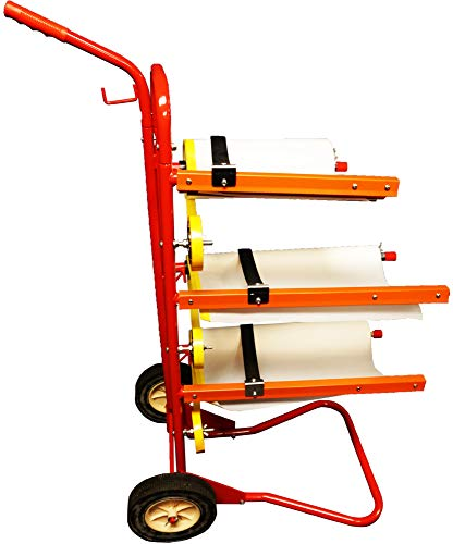 Reli. Mobile Masking Station, 3-Tier Multi-Roll, Heavy-Duty Steel, Easy Pull - Masking Tree, System for Masking Film or Masking Paper