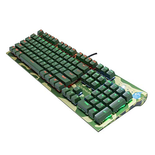 Guanwen Mixed Backlit Mechanical Gaming Keyboard 104 Key Waterproof Multimedia Optical Ergonomic Keyboard for Computer Notebook