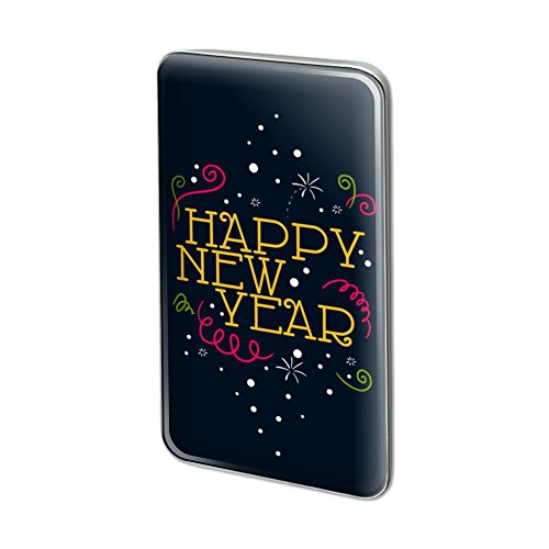 GRAPHICS & MORE Happy New Year Metal Rectangle Lapel Hat Pin Tie Tack Pinback