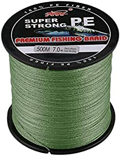WEIHAN YUDELI 7.0 Line Number Super Strong 4 Strand 500M Premium PE Braided Fishing Line Lake Multifilament Wire Woven Thread