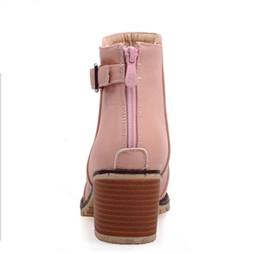 Ei&iLI Bottes printemps femmes / automne / hiver Martin bottes simili cuir Outdoor / Casual Chunky talon Buckle bottes / autres , black , 34