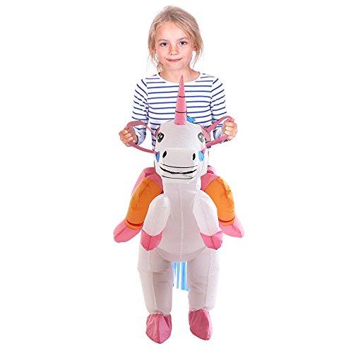 Child Unicorn Costumes (TOLOCO Inflatable Unicorn Rider Costume | Inflatable Costumes For Adults Or Child | Halloween Costume | Blow Up Costume (Child Unicorn))
