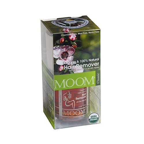 Moom Organic Hair Removal Kit, Tea Tree, 6-Ounce Package (Best Wax For Brazilian At Home Uk)