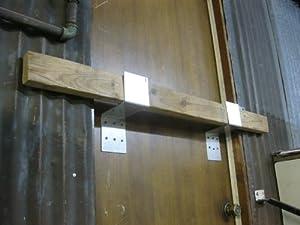 Amazon.com : Drop Bar Security Door Lock Brackets Fits 2x4 ...