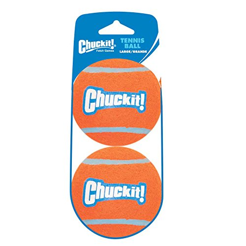 2 Pack Chuckit Ball - Chuckit! Large Tennis Ball 3 inch, 2-Pack Shrink Sleeve Package