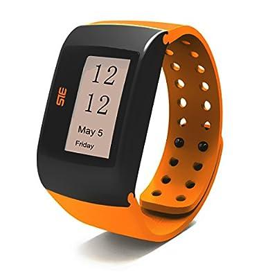 Orange Wrist Activity Sleep Tracker Calorie Burned Watch Silent Alarm USB Fit