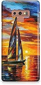 جراب خلفي بطباعة قارب لهاتف سامسونج جالكسي نوت 9 من كوفري كيسيز- متعدد الالوان
