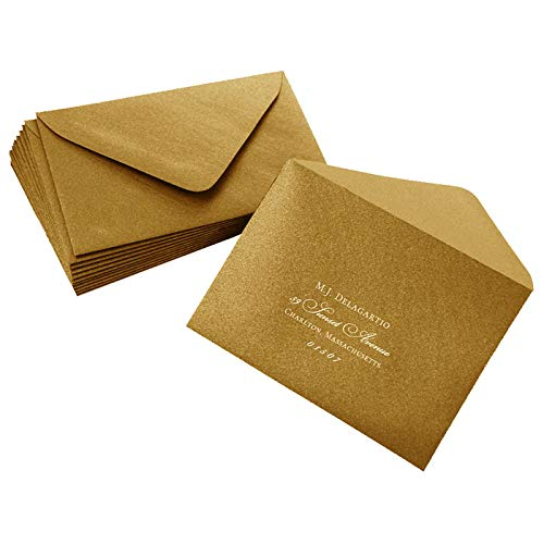Gold Envelopes - Euro Flap, 81T, 25 pack ()