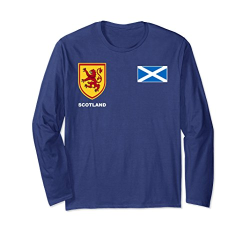 Unisex Scotland Scottish Rugby Long Sleeve T-Shirt Large Navy