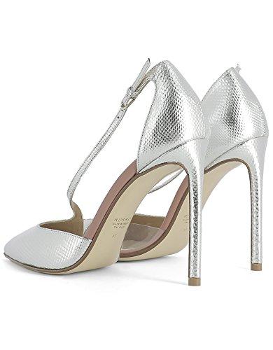 Argent RUSSO FRANCESCO Chaussures R1P156N101 Femme Talons À Cuir qv6ptP6w