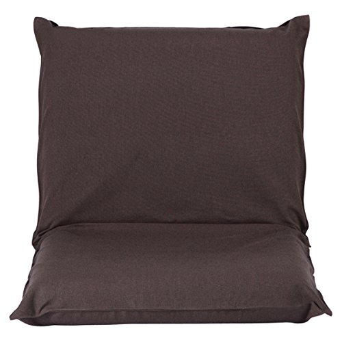 Japanese-style Seating Floor Sofa Chair Six Position Multiangle Adjustable Folding Lazy Men Chair Living Room Cushion Outdoor Indoor Single Tatami Cushion (Dark Brown) by Razou@
