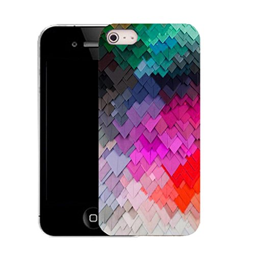 Mobile Case Mate IPhone 5 clip on Silicone Coque couverture case cover Pare-chocs + STYLET - COLOURFUL SLATE pattern (SILICON)
