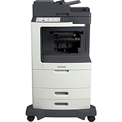 Lexmark MX811DPE Laser Multifunction Printer - Monochrome - Plain Paper Print - Floor Standing - Copier/Fax/Printer/Scanner - 63 ppm Mono Print - 1200 x 1200 dpi Print - 63 cpm Mono Copy - Touchscreen - 600 dpi Optical Scan - Automatic Duplex Print - 1200