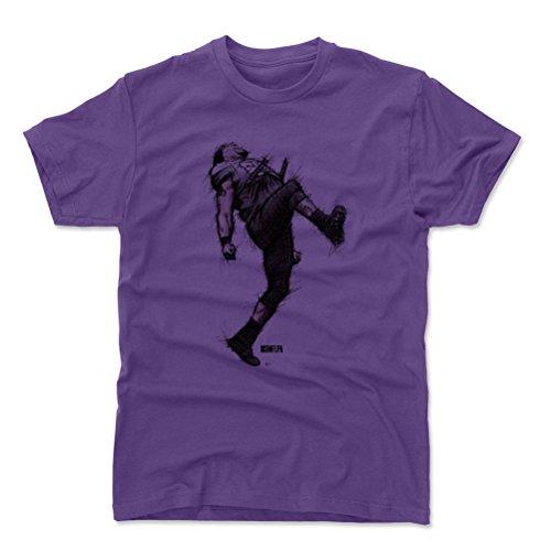 500 LEVEL Ray Lewis Cotton Shirt (XX-Large, Purple) - Baltimore Ravens Men's Apparel - Ray Lewis Dance Sketch K (Ravens Mens Apparel)