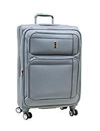 """Delsey Helium Breeze 4.0 Lightweight Luggage 29"""" Expandable Spinner - Silver Color"""